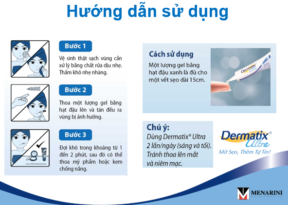 Hướng dẫn sử dụng gel trị sẹo DERMATIX