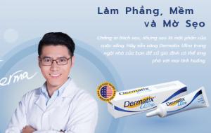 Dermatix làm phẳng mềm và mờ sẹo