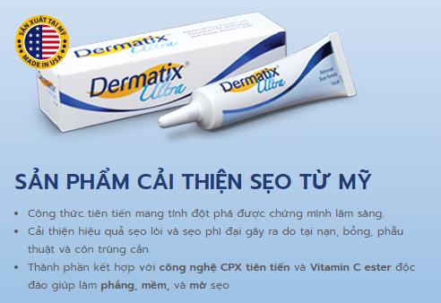 Dermatix cải thiện sẹo