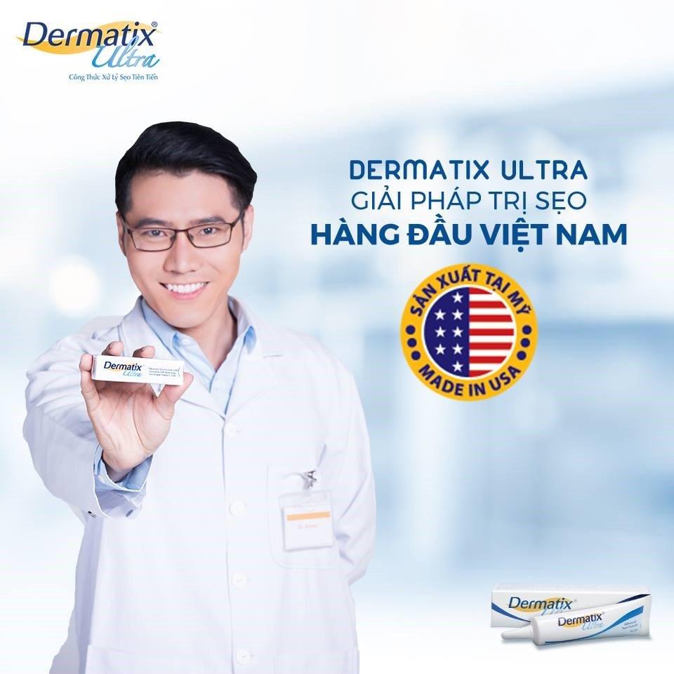 Dermatix Ultra kem trị các vết sẹo bỏng xe máy